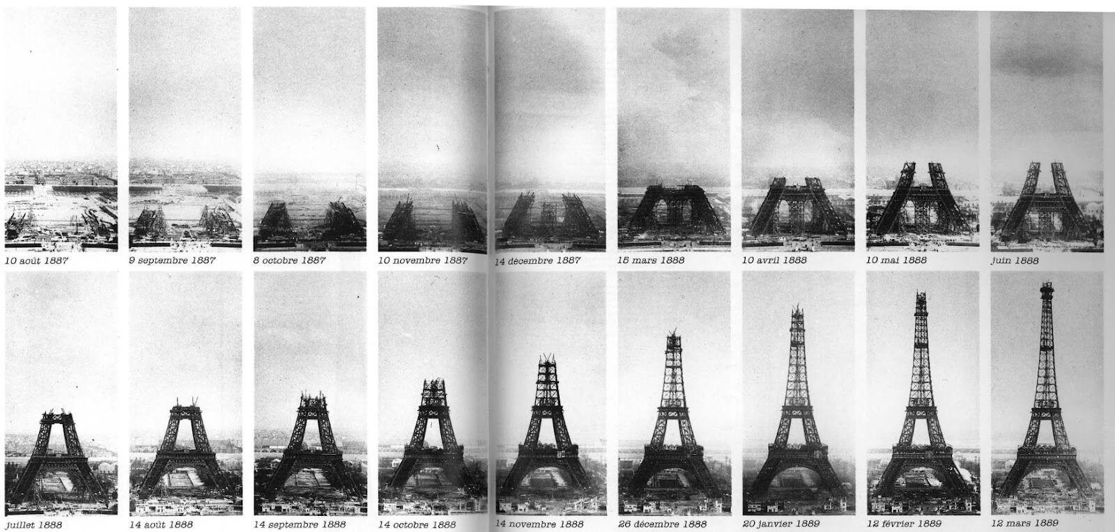 Breve historia de la torre eiffel for Cuando se construyo la torre eiffel